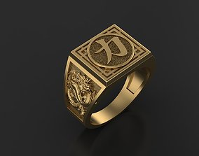 Dragon Ring medieval 3D printable model
