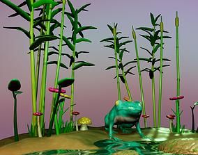 3D Bright Frog