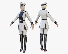 3D asset Sci Fi Girl 02