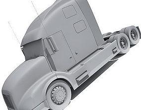 Detailed no texture Truck UT 3D