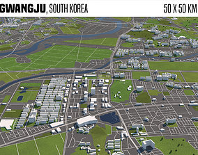 3D model Gwangju South Korea 50x50km