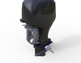 Complated Outboard Engine 225 HP 3D