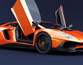 3D Lamborghini Aventador SV racing