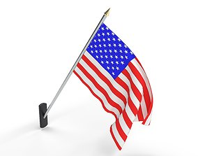 3D model American Flag Pole