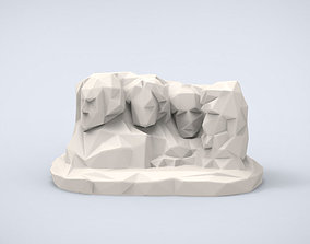 Printable Mount Rushmore Lowpoly Style
