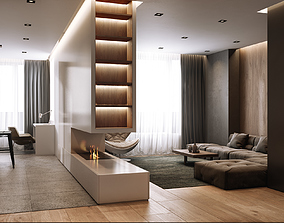 3D animated Modern style Apartment 1