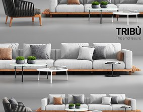 Tribu Vis a Vis Sofa and Mood Club Chair 3D