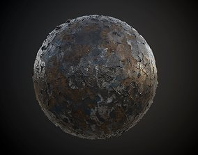 Metal Rusted Painted Seamless PBR 3D model