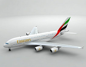Airbus A380 Airliner - Emirates 3D model VR / AR ready