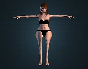 animated Chubby Teen Girl Model Gameready