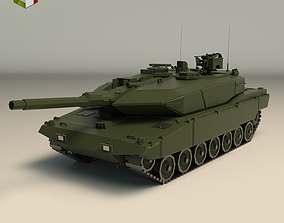 Low Poly Tank 04 3D model