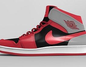 Air Jordan Mid 1 Red 3D