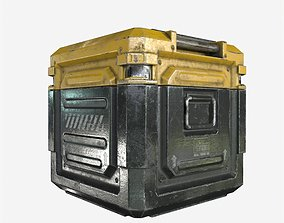 Sci-Fi Industrial Crate Game Ready PBR Textures 3D model