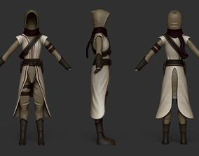Character Costume - Assassin or Ninja Outfit Skin 3D asset