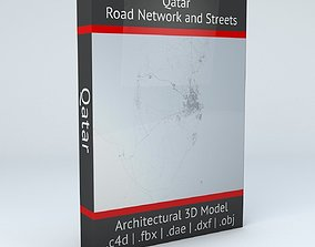 3D model Qatar Road Network and Streets
