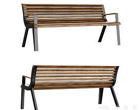 Park bench mmcite diva 3D model