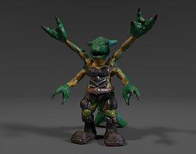 3D asset Four Arms Creature Fantasy Warrior