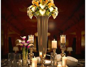 3D flower tableware