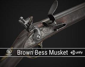 3D asset PBR Brown Bess Musket