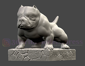 Bulldog Statue 3D printable model