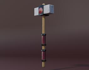 Stone hammer 3D asset