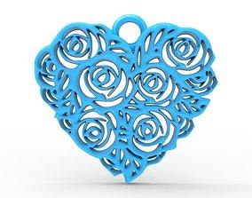 3D print model Heart pendant 10