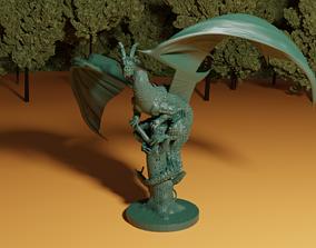 Dragon on Broken Tree 3D printable model