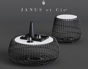 Janus et Cie JANICE FELDMAN VINO COCKTAIL TABLE 3D