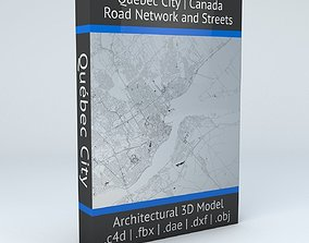 3D model Quebec City Road Network and Streets