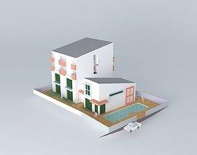 3D model Fitness apartment