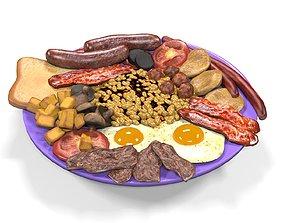 Irish Breakfast Food 3D