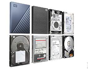 3D model Hard disk drive pack