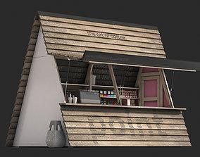 3D model Coffee shop kiosk