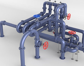Pipe Assembly Pack pipes 3D model