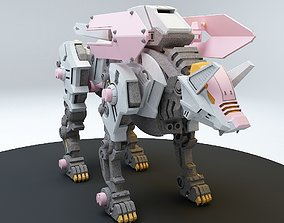 Robot guard dog 1 3D