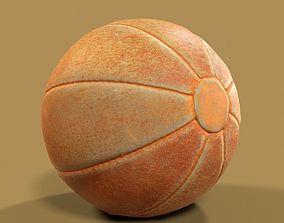 3D model Ball Photorealistic Scanned Leather Handball