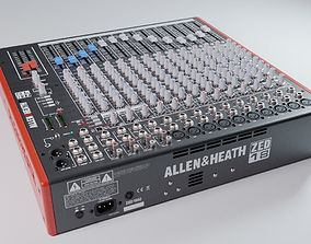 3D model Audio mixing console