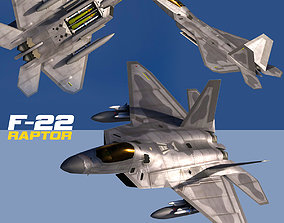 3D asset F-22A Raptor Rigged
