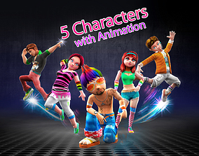 Character animation pack CA05 3D asset