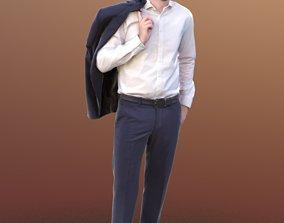 Anselmo 10256 - Standing Business Man 3D asset