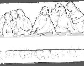 3D printable model The Last Supper Low Poly
