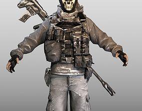 3D asset Ghost Soldier