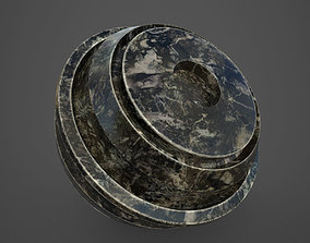 3D model Black Marble substance painter smart material