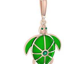Turtle Charm 3D print model