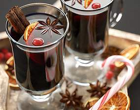 Christmas mulled wine 3D