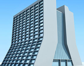 Glass Building 3D Model