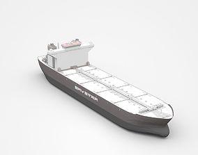 Huge Grey Freight Ship 3D model