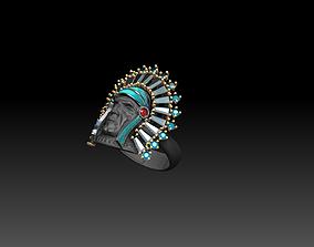 Indian ring gem 3D printable model