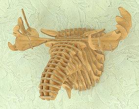 3D model CNC plans for moose head