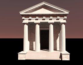 Doric Temple four pillars wide 3D model